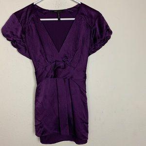 BCBGMaxazria- Purple Blouse size small